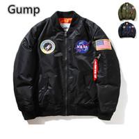 Wholesale Men S Military Overcoats - Fall-Woman men Casual Jacket Flight Pilot Coat Bomber ma1 Men Bomber Jackets Nasa Air Force Baseball Military lovers overcoat