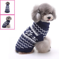 Wholesale New Wave Clothing - Pet Fashion Series MYD13 14 Dog Clothes Sweater autumn and winter water wave pattern 2 colors red and blue