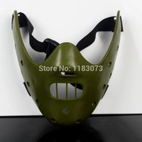 10pcs / lot SME Film film Il silenzio degli innocenti Hannibal Lecter Maschera di travestimento di Halloween Cosplay Party Masks Ballando