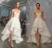 Wholesale Bone Bodice Wedding Dress - Gorgeous Lace Sweetheart Bohemia Wedding Dresses 2016 Boning Exposed High Low Bridal Gowns White Ivory Wedding Dresses Custom Made Vestidos