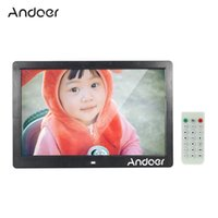 "Wholesale Wholesale Advertising Clocks - Andoer 13"" TFT LED Digital Photo Picture Frame High Resolution 1280*800 Advertising Machine MP3 MP4 Movie Player Alarm Clock Remote Control"