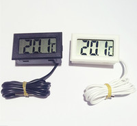 Wholesale 2m line High Qulity LCD Digital Electronic Temperature Measurement Fish Tank Temp Meter Aquarium Thermometer