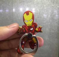 Wholesale Finger Popping - Super hero spiderman iron man caption silicone pop finger phone holder Grip stent for Smartphones Tablets Flexible stand ring Holder
