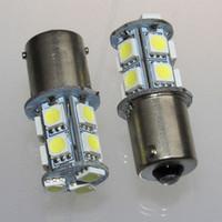 online shopping Red Led Brake Turn 1157 - High Quality 1156 382 BA15S p21w 1157 BAY15D p21 5w BAY15D PY21W Led Light Bulb 13 SMD 5050 Brake Tail Turn Signal Light Bulb Lamp 12V