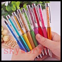 dokunmatik kalem mini kristal toptan satış-2 in 1 Kristal stylus Kapasitif ekran için Dokunmatik kalem ipad mini iphone Yazma Mürekkep Kalem