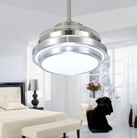 Wholesale European Control - Ultra Quiet Ceiling Fans 110-240V Invisible Blades Ceiling Fans Modern Fan Lamp Living Room European Ceiling Light 48   42   36   32 Inches