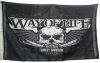 Wholesale Cm Club - Custom Skull Motorcycle Club Flag Banner for Harley, 3x5 feet flags and Banners with 2 Grommest