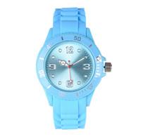 смотреть силиконовый пластик оптовых-Новый студент спорт силиконовые часы Мужчины Женщины кварцевые наручные часы пластиковые желе повседневная dress часы красочные пара подарок часы