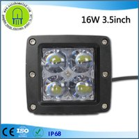 Wholesale 16w Led Bars - 3.5inch 16w Cree Square LED Spot Light for Off Road Led work light Bar 6000k