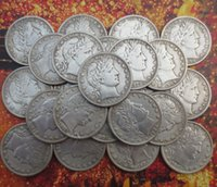 Wholesale Barber Dollars - (1892-1912) Barber Half Dollars(21 pieces) COPY Coins Promotion Cheap Factory Price nice home Accessories Silver Coins