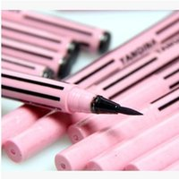 Wholesale Instant Case - Wholesale- Top Quality Wholesale Waterproof Liquid Eye Liner Cosmetic Eyeliner Pencil Make Up Black Casing Instant Black Quickly Dry Pen