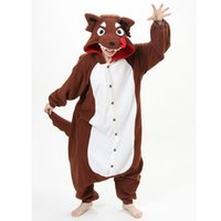Оптовое - новое взрослое животное Onesie Animal Bad Wolf Pajamas Sleepsuit Sleepwear Unisex Cosplay