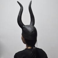 mascarillas de silicona para mujer al por mayor-Halloween Maléfica Angelina Máscaras Mujeres; S Movie Cosplay Props Halloween Scary Latex Mask Silicone