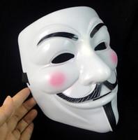 v máscaras anónimas al por mayor-2017 Máscaras Vendedoras del Partido V caliente para Vendetta Máscara Anónima Guy Fawkes Disfraz Disfraz Adulto Accesorio Fiesta Máscaras de Cosplay