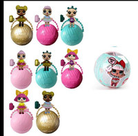Wholesale Sat Wholesale - LOL Surprise Dolls Sit Full Body Lovely Baby Dolls spray kids gift Charm Fizz Ball Dress UpToys Collectible Series Funny Eggs KKA2833