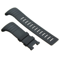 Atacado- 34mm Black Waterproof Silicone Strap Watchband Homens Replacement Watch Straps Without Metal Buckle For / SUUNTO CORE Relógios de pulso