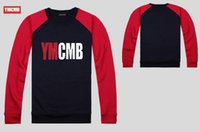 ymcmb hoodie großhandel-Hoodie-Sweatshirt freies Verschiffenprodukt YMCMB Rap-Hip-Hop-Art- und Weisebaumwollrunde Kragenmannfreizeitsportstrickjacke