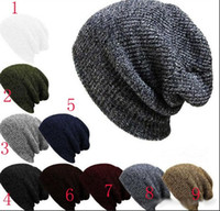 Wholesale Kniting Yarns - new winter women men woolen yarn kniting beanie skulls caps head ski outdoor sport Keep warm hats Headgear