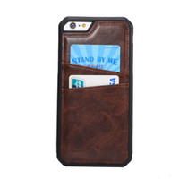 Wholesale Crazy Iron - TPU Crazy Horse PU leather with iron sheet Classic Cases Card Slot Cover For iphone6 4.7 5.5 plus Fundas Card Holder