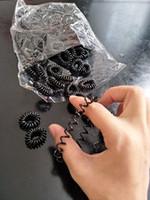 Wholesale Black Ponytail Holders - 100pcs pack Black Plastic Rope Ponytail Holder Elastic Hair Bands Ties Braids Plaits hair clip headband Hair Accessories