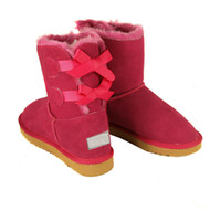 Wholesale Clear Red Rainboots - 2016 Australia BAILEY BOW Sheep Skin Bailey Bowknot Boot winter boots for women sale casual boots New Fashion Snow Boot size 5-10