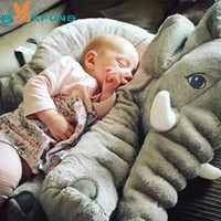 Wholesale Baby Pillow Infant - 40 60cm Infant Soft Appease Elephant Playmate Calm Doll Baby Appease Toys Elephant Pillow Plush Toys Stuffed Doll