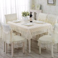 Wholesale Blue Tablecloths - 1 Piece European Rural Lace Table Cloth  Lace Tablecloth Chair Cover Free Shipping  Modern Household Adornment Tablecloth
