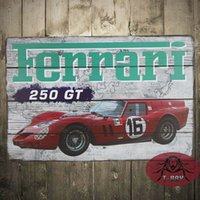 250GT SPORT CAR Targa Chic Registrati Home Bar Pub Caffè Ristorante Decor regalo B-148 160.909 #