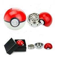 Wholesale pokemon balls online - Poke Mon Go Grinder MM Poke ball Herb Grinder Metal Zinc Alloy ABS Plastic Grinders Parts Tobacco Grinder Smoke PokeBall car