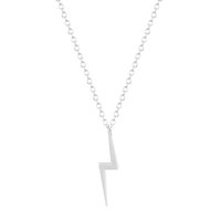 Wholesale Alloy Bolts - 10pcs lot Vintage-accessories Punk Jewelry Cute Delicate Lightning Bolt Charm Pendant Thunder Strike Necklaces Gift for Friends
