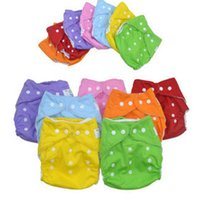 Wholesale 1 Reusable Baby Infant Nappy Cloth Diapers Soft Covers Baby Nappy Size Adjustable Training Pants Size Adjustable Colors