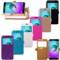 Wholesale Diamond Xperia - Caller ID Wallet Leather Pouch Case Stand Diamond ID Card Open Window TPU For Samsung Galaxy A310 A510 J510 J710 LG G6 Sony Xperia XA Cover