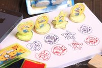 Wholesale Despicable Stationery - 2016 Despicable Me Minions DIY Cartoon Seal Stamper teacher stamp set craft stamps stationery set kids stamp DIY best gifts