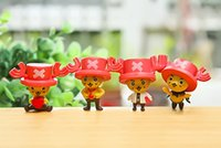 Wholesale One Piece Miniature - New fashion 4PCS Set Cute One Piece Joba Toppers Doll PVC Action Figures Toy Fairy Garden Miniatures Craft for home decor diy high quality