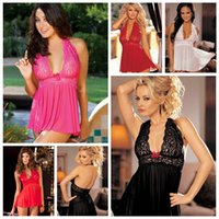 Wholesale Ladies Hot Adult Lingerie - Women Large Size Sexy Lingerie Hot Sale Lady Dress Skirts G-string Lace Babydoll Underwear Nightwear Plus Size Nightdress For Adult