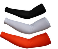 Wholesale Uv Arm Sleeve Xxl - Polyester Lycra Arm Warmers Sleevelet coclorful quick-dry bike arm sleeve Cover UV protection Size: M,L,XL,XXL free shipping