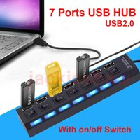 7 porte USB LED adattatore ad alta velocità USB Hub Con Power on / off per computer portatile del PC OEM ODM