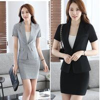 ladies plus skirt suits Australia - Womens Summer Autumn Spring Work Wear Slim Fall Skirts Ladies Plus Size XXXXL Business  Formal Office Suits Dress DK831F