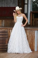 Wholesale Sweetheart Princess Wedding Dress China - Full Lace White Lace Country Wedding Dresses 2016 New Arrival Cheap Simple Wedding Bridal Gown from China