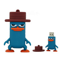 Wholesale Cartoon Model Usb Memory Stick - Duck Doctor Model Pen Drive Cartoon Gift 8GB USB Flash Drive Pendrive Memory Stick 100% Real Capacity 4GB 2GB 1GB 16GB