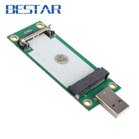 Wholesale Slot Module - Wholesale- Mini PCI-Express pcie pci express PCI-E Wireless WWAN to USB Adapter Card with SIM Card Slot Module Testing Tools