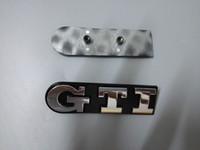 volkswagen abs al por mayor-Emblemas de carros con el logotipo de GTI 3D para Volkswagen ABS de plástico para parrillas delanteras de automóviles con dos colores