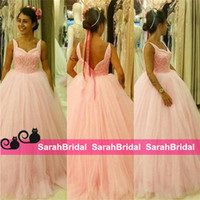 Wholesale Reference Bar - 2016 Dreamy Quinceanera Dresses with Cute Pink Tulle 2k16 Girls Fashion Ball Debutante Prom Bar Mitzvah Ceremony Party Gowns Handmade Cheap
