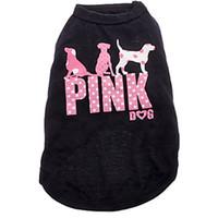 розовая одежда оптовых-Новый розовый Собака Собака одежда мода симпатичные собаки жилет Pet свитер щенок рубашка мягкое пальто куртка лето собака кошка одежда