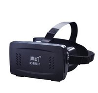 virtuelle realität google 3d kunststoff karton großhandel-RITECH II Kopf Mount Kunststoff Version VR Virtual Reality Brille Magnet Control Google Karton für 3D-Filme Spiele 3,5-6 Telefon