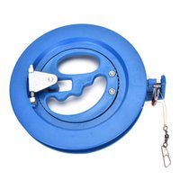 Vente en gros - 1Pcs 15.5cm Diamètre Plastique Polyester Beach Kite Wheel Winder Ballbearing Reel Grip Handle Tool 100M Flying Line Line