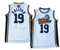 Aaliyah Jersey # 19 Bricklayers Throwback Jerseys 1996-97 MTV Rock N 'Jock Movie Uomini cuciti magliette da basket economici Viva Villa