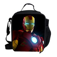 Wholesale Cute Lunch Bag For Children - 2015 Fashion Cute Cartoon Character Lunch Bag For Kids The Avengers Hulk Ironman Cooler Lunch Bag For Children School Boys Girls
