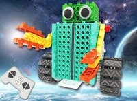 Wholesale Childrens Building Blocks - DIY Variety Building Blocks Remote Control Electric Robot Science and Education Childrens Puzzle Blocks Christmas Gifts for kids