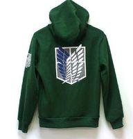 Wholesale Black Legion - Attack on Titan Shingeki no Kyojin Scouting Legion Cosplay Hoodie Coat hoodie jacket casual hoodies Sweatshirt